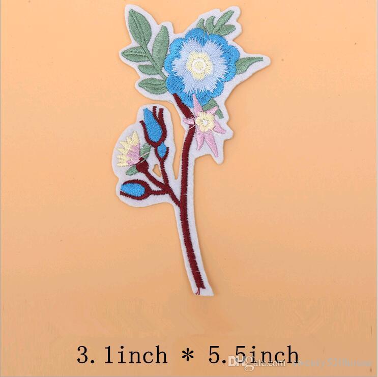 2 Teile Blume Handwerk Nähen Bestickt Nähen Eisen Auf Applique Patch Vöge Z1V3