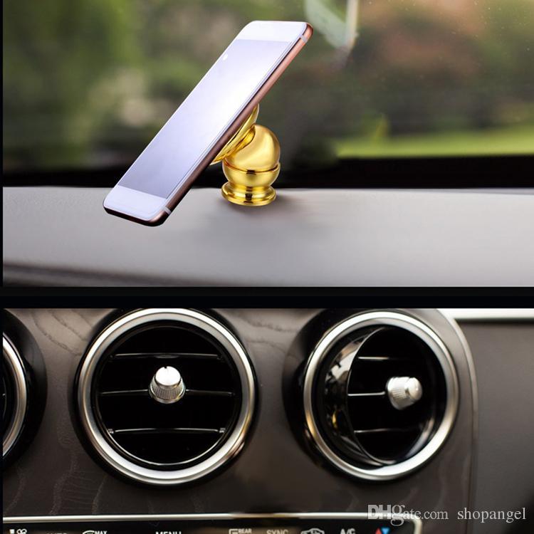 Golden Mobile Phone Magnet Holder Magnet bracket 360 degrees magnetic phone holder Car phone holder Car navigation frame