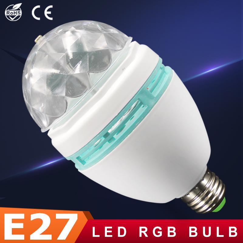 Discount Wholesale Ampoule Led Rgb Crystal Stage Rotating Lamp E27 - Lamparas-led-para-casa