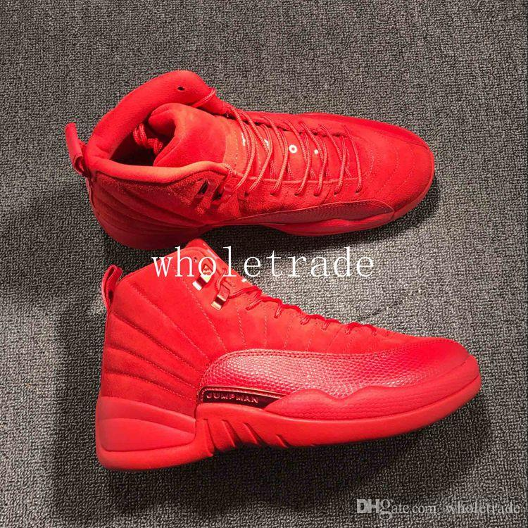 Mens Shoes 12s 12 Red Suede Basketball Shoes US Size 8 13 Ship With Box  Cool Basketball Shoes Women Basketball Shoes From Wholetrade 6d0afd030c4