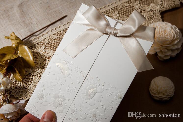 Tarjetas de invitación de alto grado con sobres, sellos e impresión personalizada personalizada una venta caliente en la temporada de bodas WQ07
