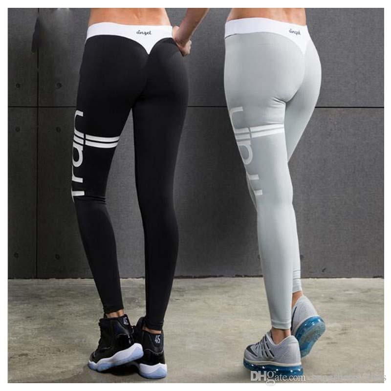 01a183d8be07d3 2019 Yoga Sports Leggings For Women Sports Tight Yoga Leggings  Comprehension Yoga Pants Women Running Tights Women From Superhotclothes,  $27.14 | DHgate.Com