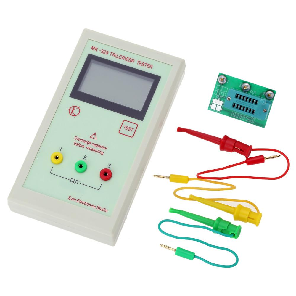 Freeshipping Portable 128*64 LCD Transistor Tester Diode Inductance Capacitance ESR Meter MOS/PNP/NPN L/C/R Testing
