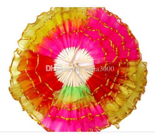 Yeni Çin ipek dansı, fan, el fanı, oryantal dans sahne, festivali sahne, kare dans, fan