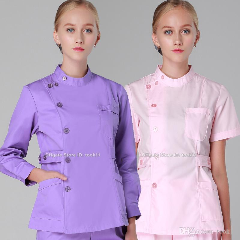 2017 women medical suit spa beauty salon uniform design for Uniform design for spa