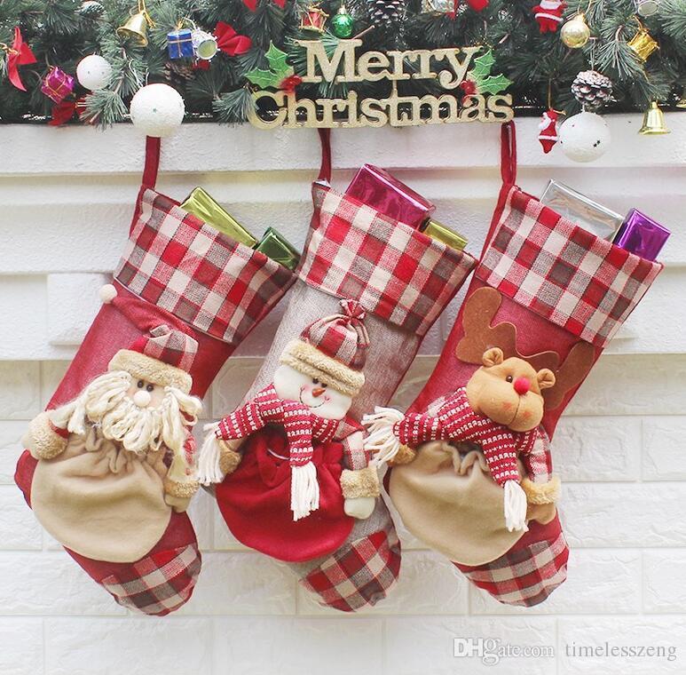 Grandes decoraciones de Navidad de Navidad decoraciones de Chrismas para el hogar adornos para árboles de Navidad regalo titulares medias Enfeite De Natal
