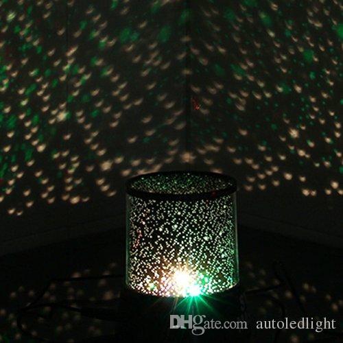 İnanılmaz Yıldız Usta LED Gökyüzü Cosmos Uzay Projektör Çocuklar Yatak Gece Lambası Mood Lambası Hediye noel tatili