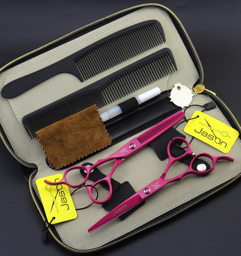 6.0 Inch Jason Left Hand Cutting Scissors Kit forbici professionali parrucchiere JP440C Left_handed Barber Scissors Hair Shears, LZS0571