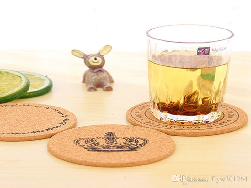Fast shipping Round Cork Coasters Tea Drinks Coasters Cup Mats Pads Home Vintage Cup Coaster Modern Kitchen Accessories