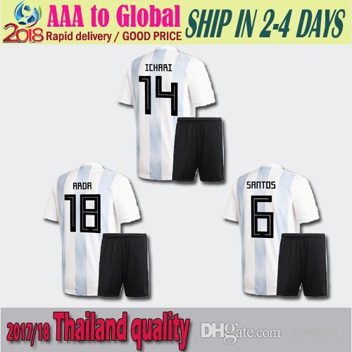 fd83fbb3427 2018 World Cup New Argentina World Cup Soccer Jersey KIT 17 18 MESSI ...