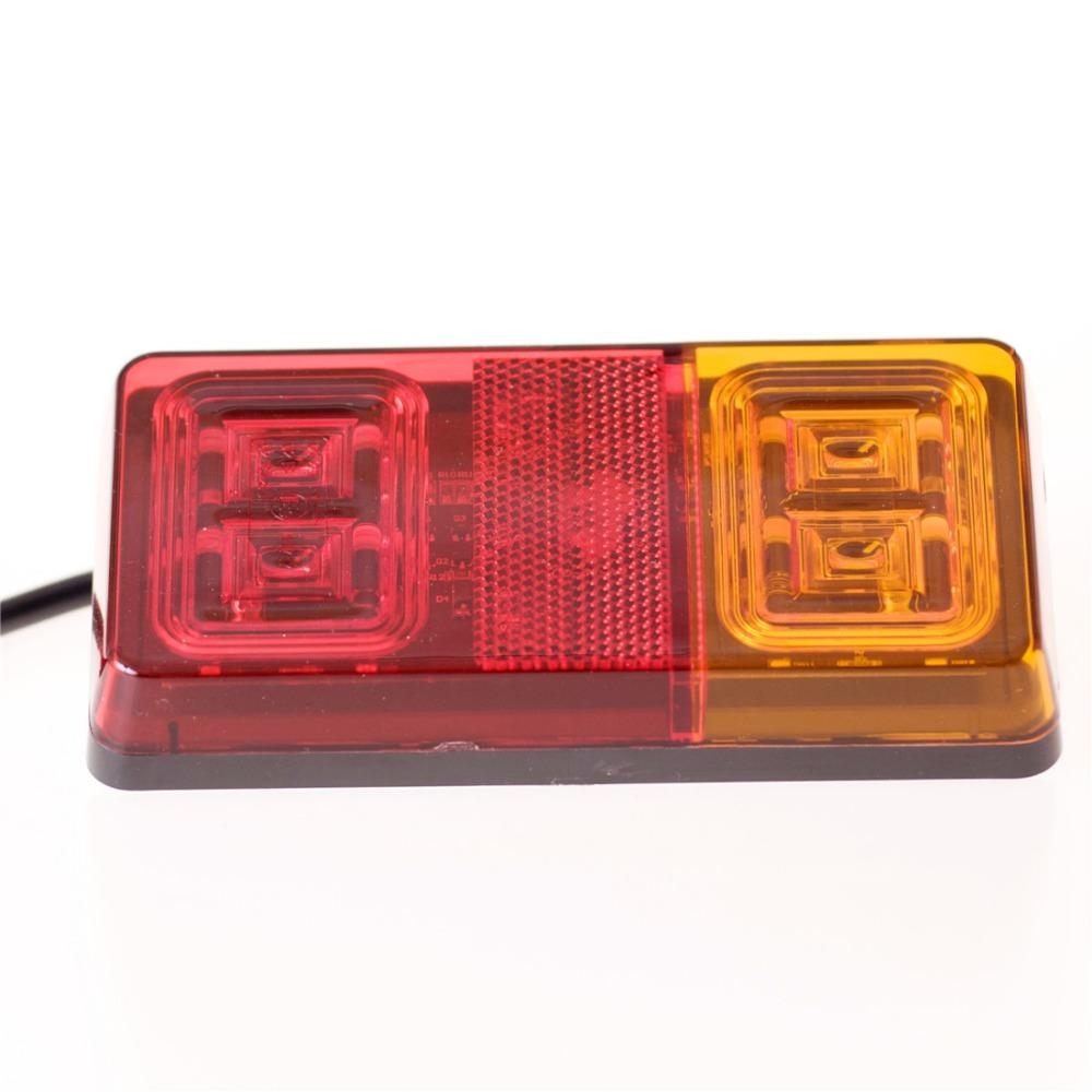 16 Led Double Color Trailer Tail Lights Indicator Turn Signal Light ...