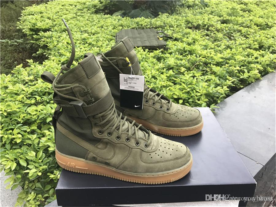 2019 High Quality DEAL SFAF1 Special Field SF Air Force 1 Olive Gum Men QS  SFAF 1 859202 339 OLIVE SPECIAL FIELD URBAN UTILITY With Box From Yhboss e80c33835