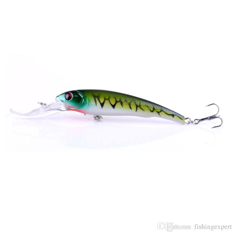 16.5cm Long-lip Minnow Fishing Lures 29g Saltwater Hard Bait 3D Eyes Plastic JerkBait or Swimbait Sinking Wobbler Lure