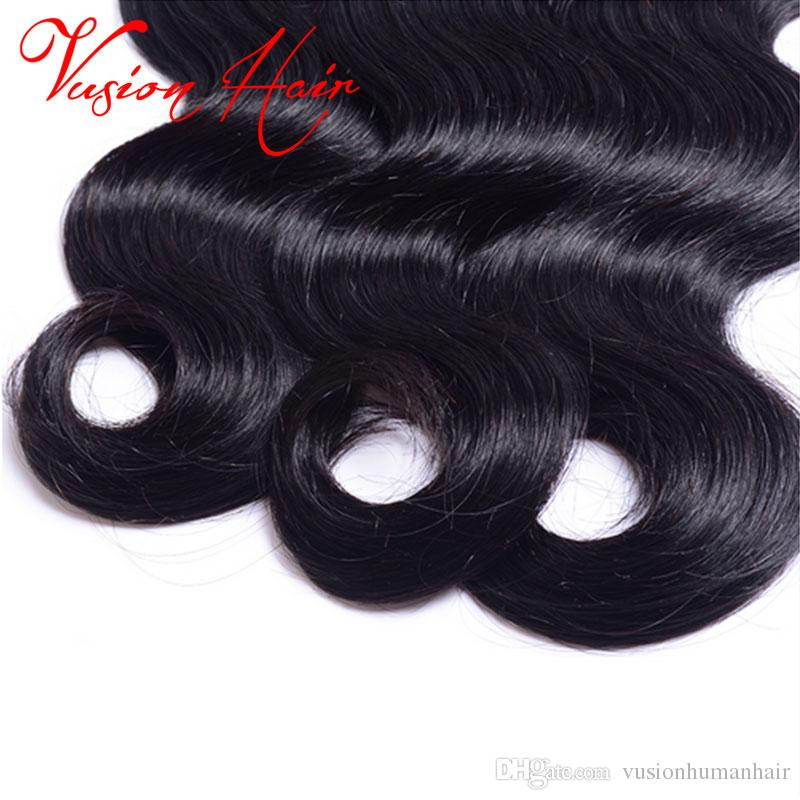 Brazilian Body Wave Hair Extensions 1Bundle 7A Brazilian Virgin Hair Weave Body Wave Best Beauty Natural Black Color No Shedding