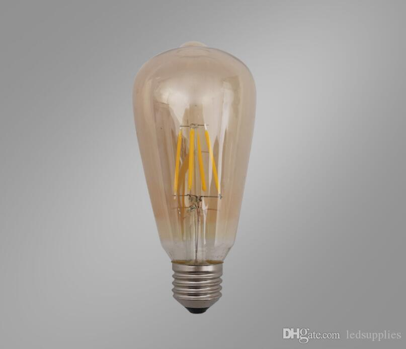 Super Bright E27 Светодиодные лампы Need Light 360 Угол ST646D Огни Edison Лампа 4W / 6W / 8W 110-240V 6 шт.