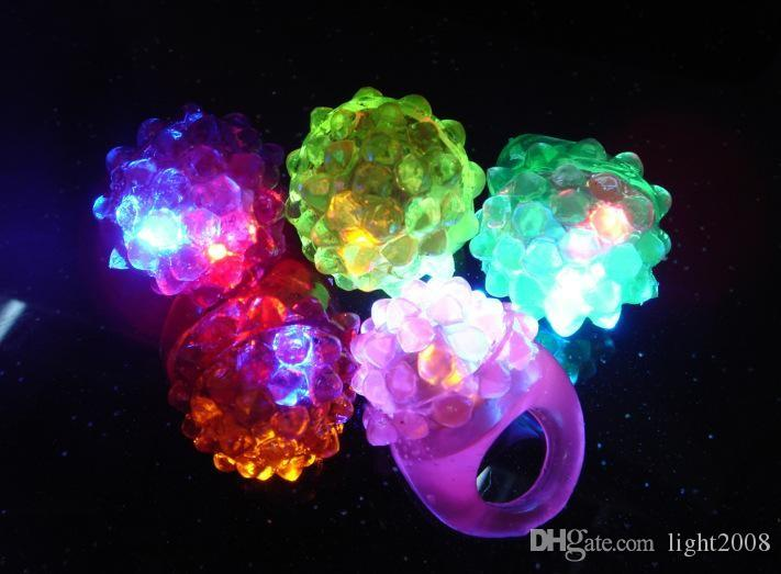 Strawberry Glow Light Ring Torch LED Finger Ring towns Flash Beams Light Halloween Party LED Toys Wedding
