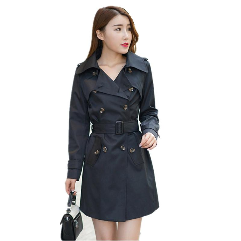 7d0ebf517d9 2017 Autumn Coat Plus Size XXXXXL Slim Lapel Epaulet Double Breasted Casaco  Feminino Long Section Trench Coat For Women C3062 Jackets For Sale Brown  Leather ...