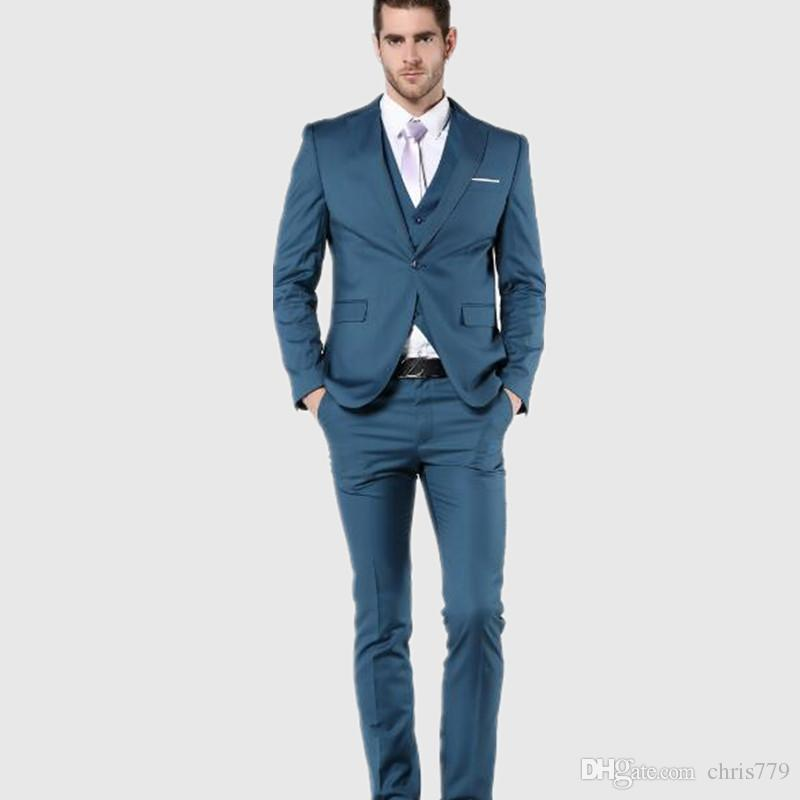 2018 New Arrial Mens Suit Slim Fit Latest Coat Pant Designs Groom ...