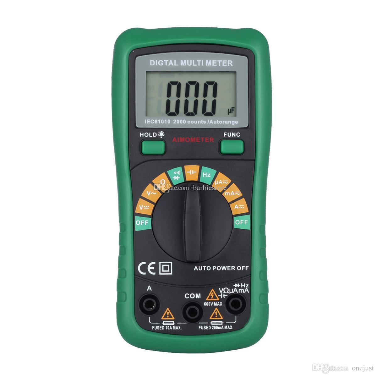 Ut33d Ut136b Digital Automatic Range Power Lcd Multimeter Voltmeter Circuit Tester Multi Ammeter Ohmmeter Ohm Capacitance E00661 Ost Online With 1858 Piece On Onejusts