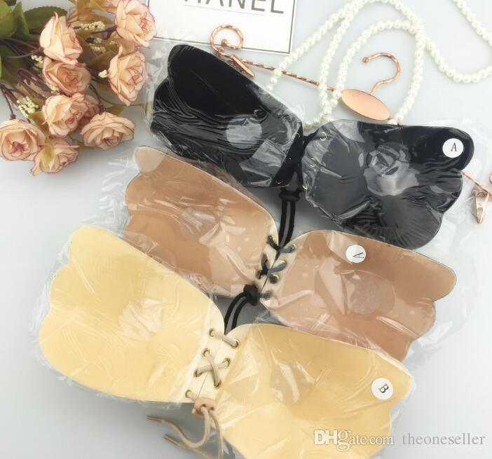 Butterfly Shaped Bras for Women Self-Adhesive Push Up Silicone Bust Front Closure Strapless Beauty Sexy Bandage Style DHL