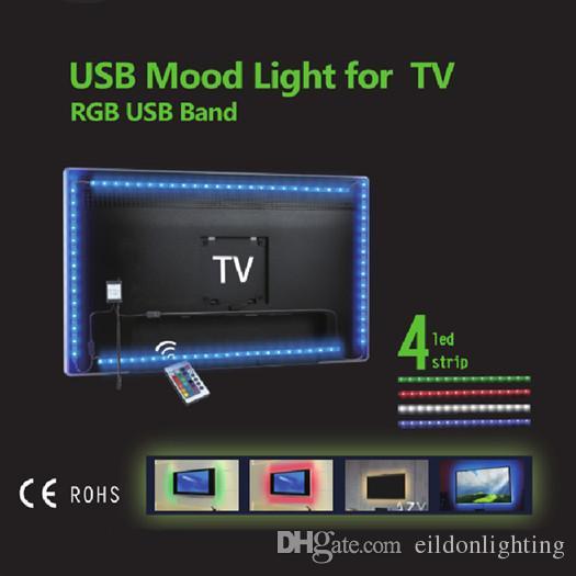 Acquista Lampade A Led Rgb 3528smd Tv Retroilluminazione Kit 50cm