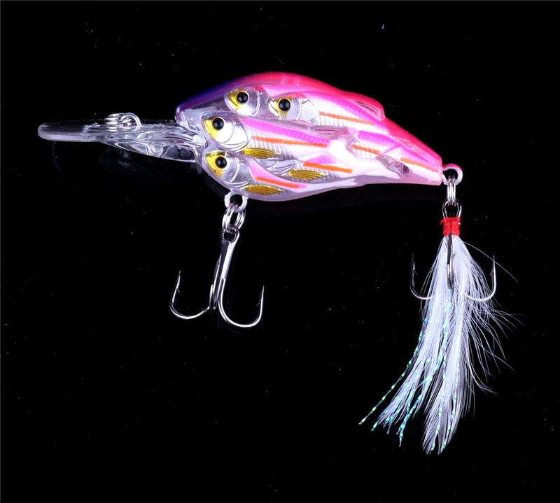 Hot 3D Eyes Long Mouth Shad Crankbait Fly Fishing lures 7.5cm 9g Live Target Minnow bait for freshwater fishing tackle