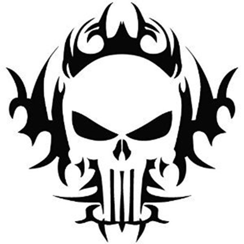 Car Decals Punisher Skull Car Motorcycle Truck Decals Vinyl Waterproof  Outdoor Stickers Motorcycle Exterior Accessories JDM UK 2019 From Xymy767 a7d1d0000cf