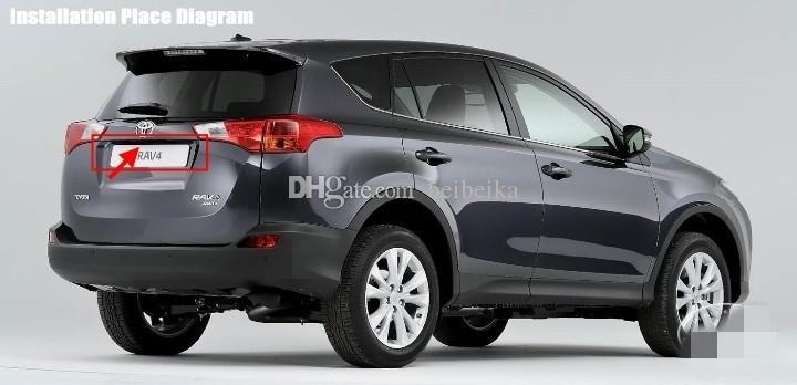 Caméra de stationnement de voiture / OEM de lumière de plaque d'immatriculation CCD RCA NTST HD / caméra de vue arrière pour Toyota RAV4 2013 ~ 2015