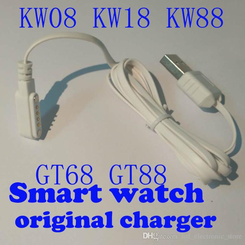 Original Kingwear Smart Watch Magnet Ladegerät Kabel USB Ladegerät für GT88 GT68 KW08 KW18 KW88 Smartwatch
