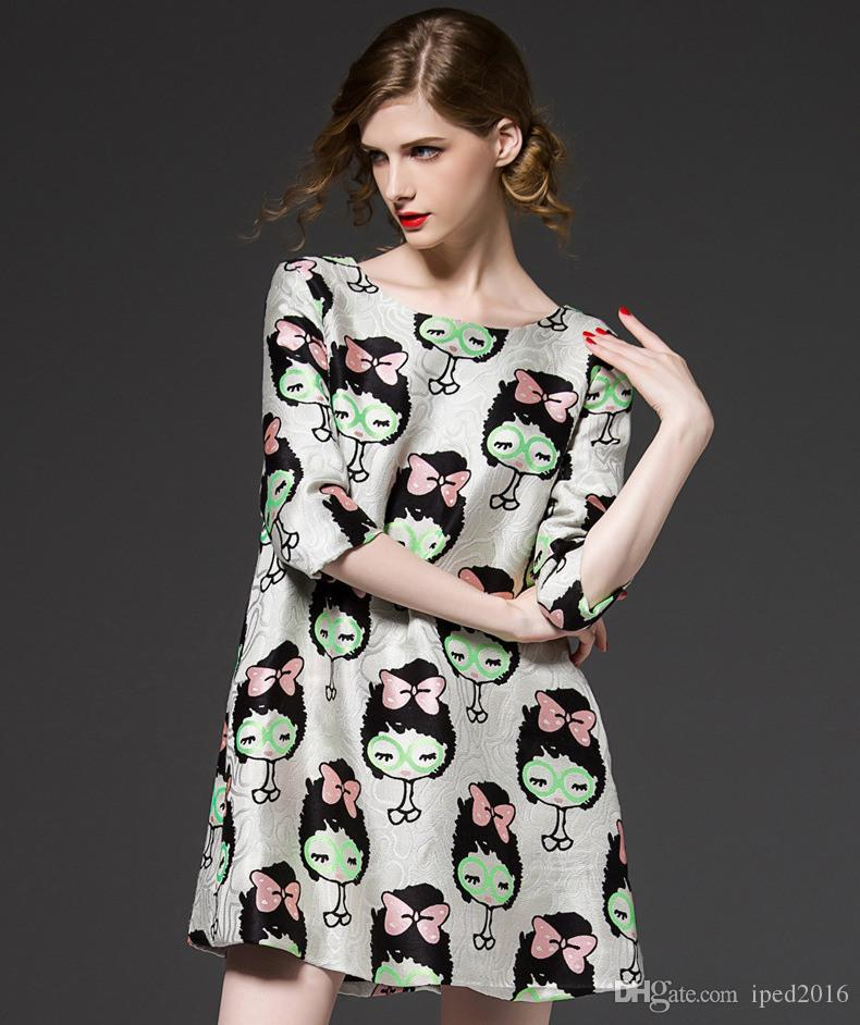 Cartoon Maternity Dresses Clothing Summer For Pregnant Women Clothing O-neck Short Sleeve Slim Pregnancy Dress Wear