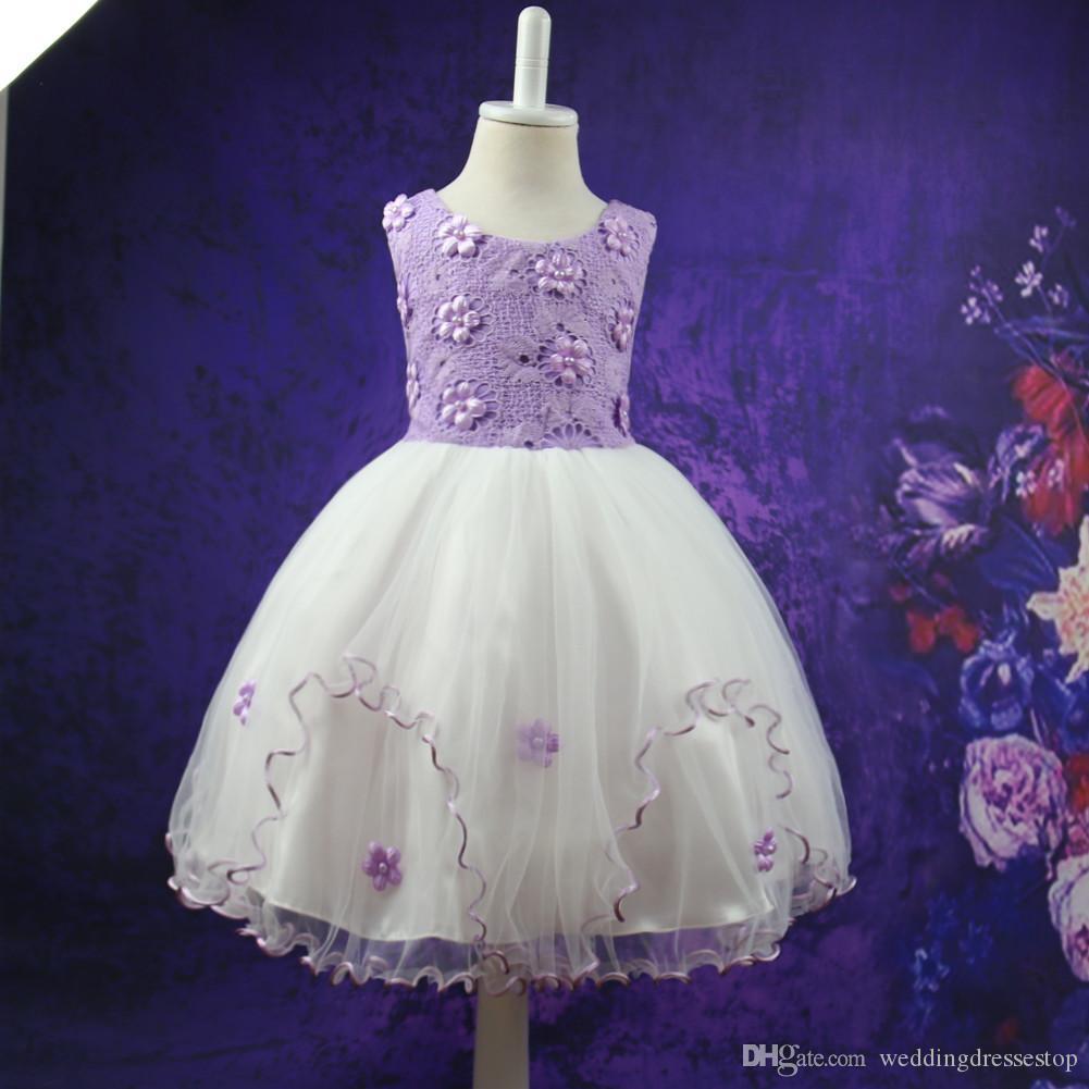 Großhandel Tanz Kostüme Für Kinder Kleider Für Mädchen Abend Chiffon ...