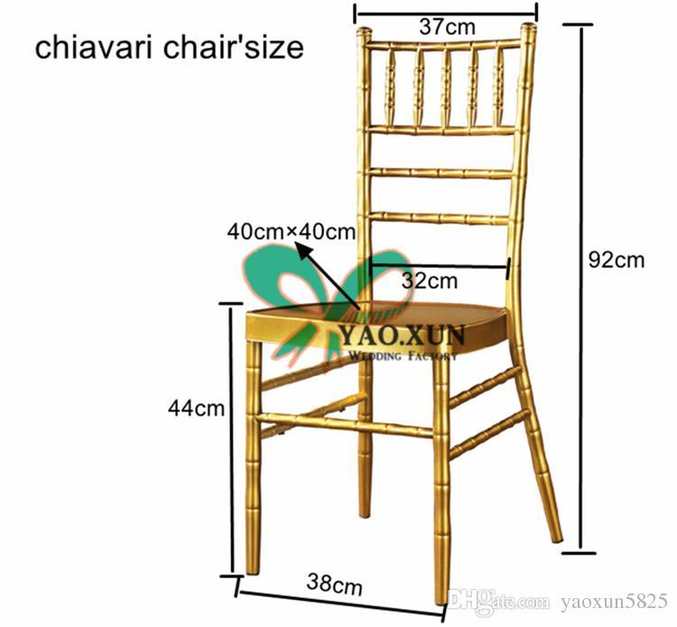 Copri sedia Chiavari in chiffon color avorio \ Cappuccio sedia decorazione di nozze