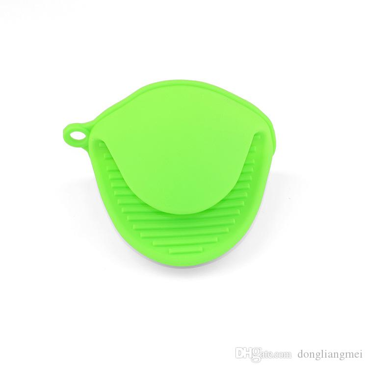 new Kitchen Silicone Insulated Gloves Non-slip Heat Resistant Oven Mitts Gloves Grip Oven Pot Hot Proof Holder Baking BBQ Cooking Tool wn084