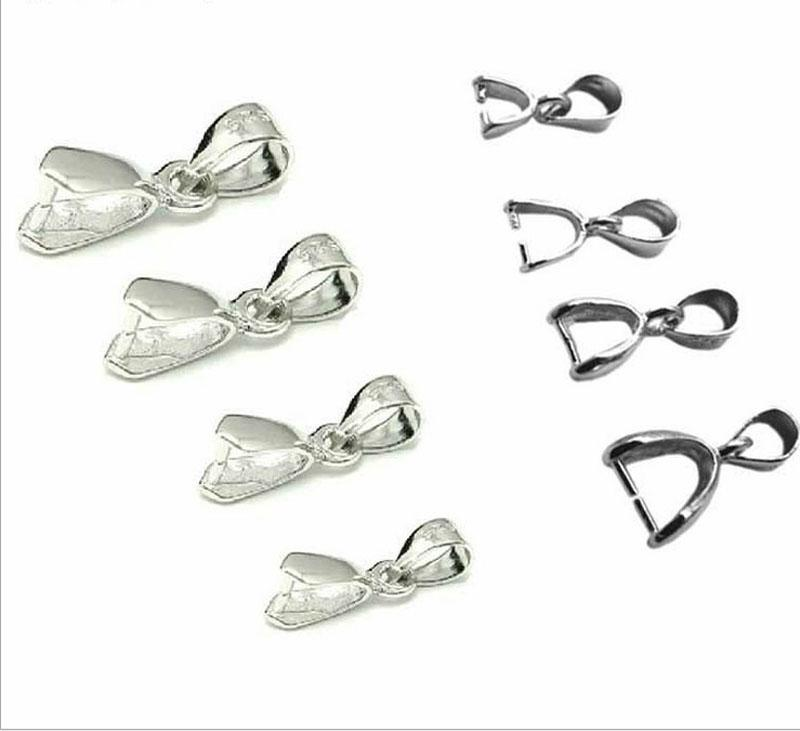 925 Sterling Silver Lobster Claw Clasps Pendant Clasp Pinch Charm Connector Clasp Pendant / Findings / Bright / PlatinumFor DIY Craft Dec