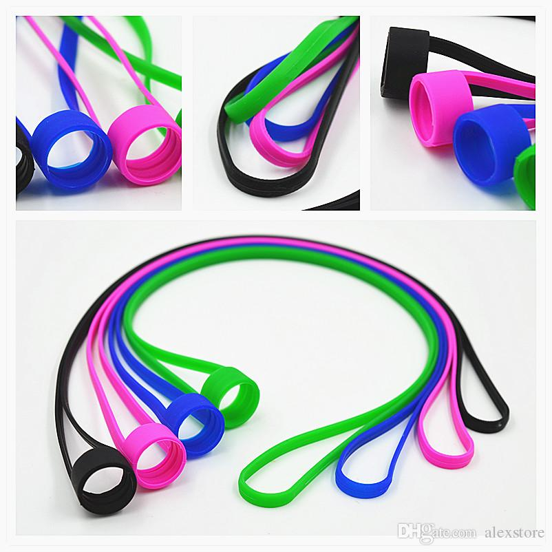 Universal Silicone Lanyard Vape Band O Rings Silicon Necklace Colorful for fit 16mm-25mm E-cigarette Kits RDA RBA Tank Atomizer Box Vape Mod