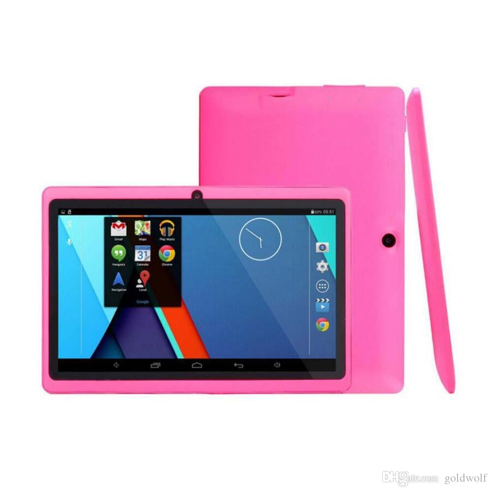 Q88 7 inch tablet PC A33 Quad Core Allwinner Android 4.4 KitKat Capacitive 1.5GHz 512MB RAM 4GB ROM WIFI Dual Camera Flashlight