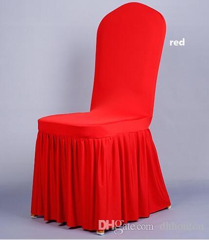 الزفاف مأدبة غطاء كرسي جودة عالية كرسي تنورة حامي الغلاف ديكور مطوي تنورة نمط كرسي يغطي دنة WT056