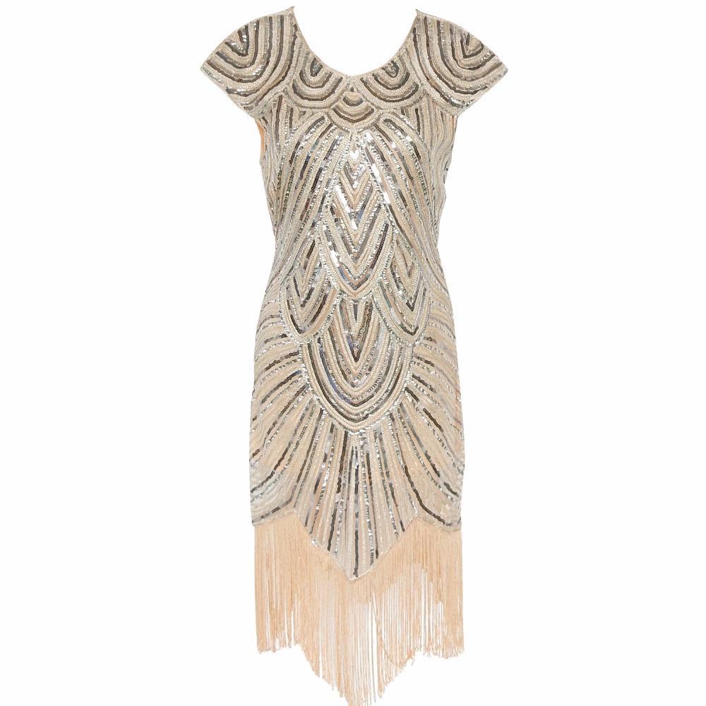 2018 Wholesale Women 1920s Diamond Sequined Embellished Fringed ...