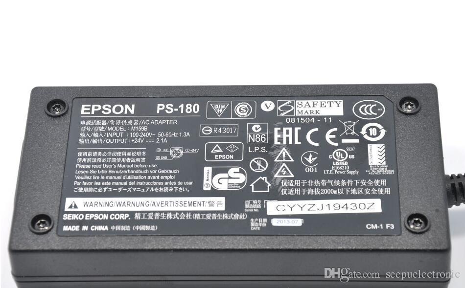 100% genuíno EPSON PS-180 POS Impressora Adaptador De Alimentação AC tm-U220PD M159A 24 V 2A