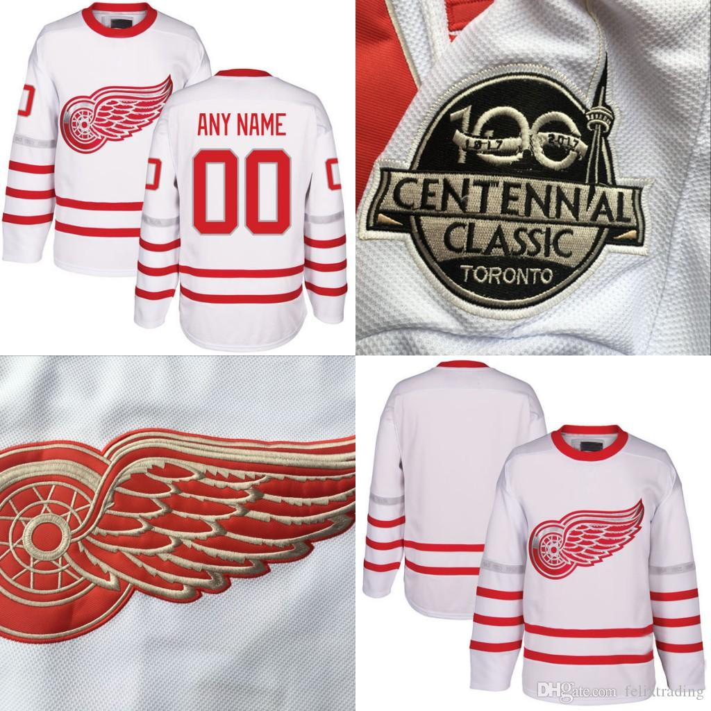 Detroit Red Wings Jersey 2017 Centennial Classic Premier Jersey 71 Dylan  Larkin  72 Andreas Athanasiou  39 Anthony Mantha Hockey Jersey Canada 2019  From ... 7f2a55ec93f
