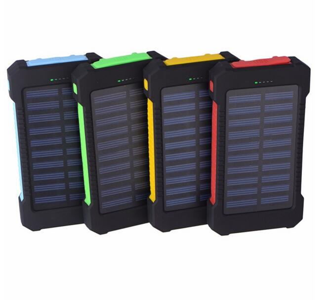 20000 mah Solar Charger and Battery 30000mAh Solar Panel Dual Charging Ports portable power bank for All Cell Phone table PC MP3