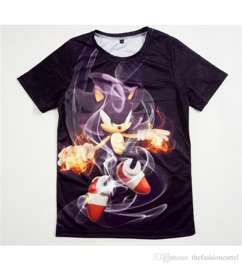 Real USA Size Custom Made Sonic 3D Sublimation Print T Shirt Plus Size  White T Shirts With Designs Cloth T Shirt From Thefashioncartel fffc8b5e0478