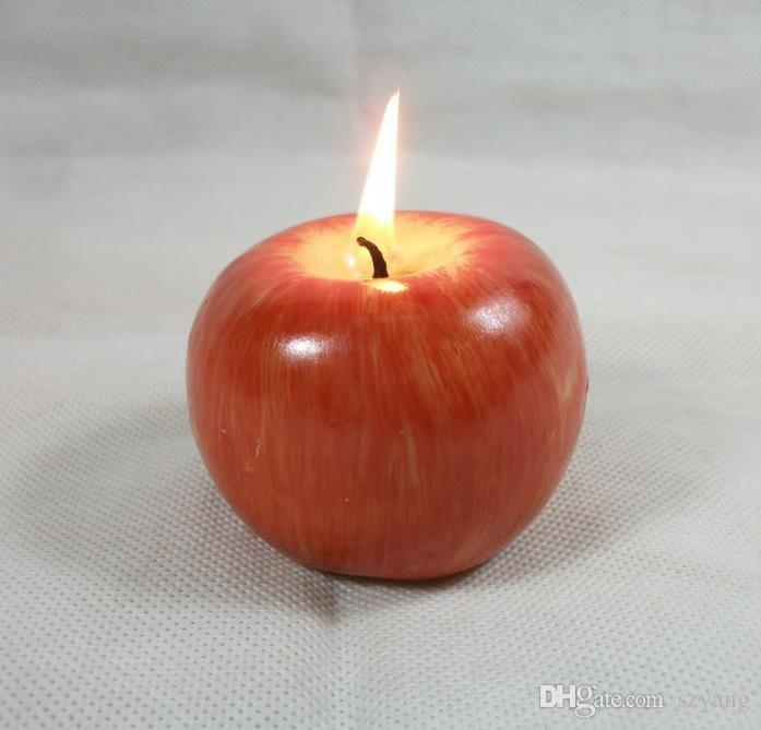 NEW Fruit candle Vintage Apple candle home docor romantic party decorations Apple scented candles Birthday Christmas wedding decor candles