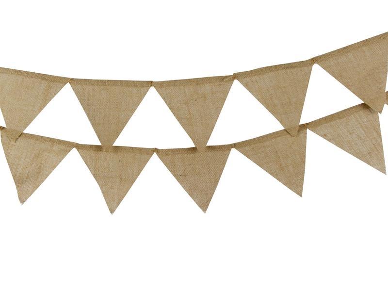 20 ensembles / 13 drapeaux 12 drapeaux décoration de mariage Vintage Jute Toile De Jute Bannière Bruant Fanion Photographie Props Décoration De Partie