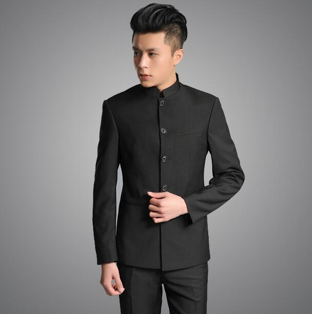 Mens Chinese Tunic Suits Online | Black Mens Suits Chinese Tunic ...