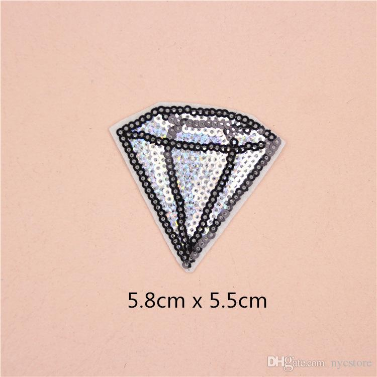 Embroidered Sequins Beaded Lip Diamond Sewing on Small Patch for Clothing Hat Shoes Bag Decorative DIY Applique Accessories