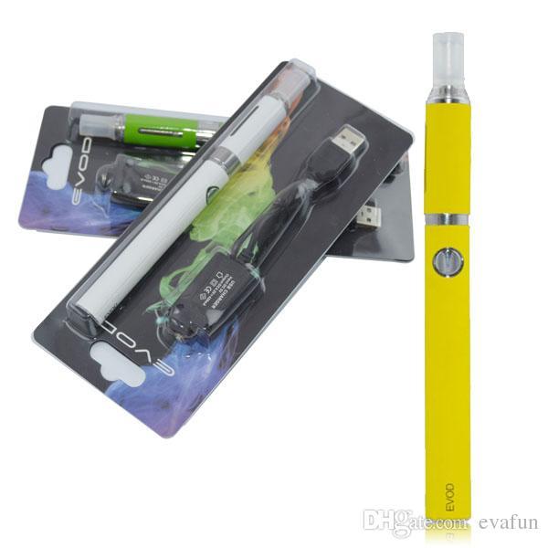Evod MT3 Blister Kit Elektronische Zigaretten Vaporizer Vape Pen MT3 Zerstäuber 650 900 1100 mAh Evod Batterie Elektronische Zigaretten Vape Pen