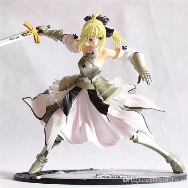 170628 QIUCHANY Toy Collection Funko Pop 23cm Fate Stay Night Altria Pendragon Saber Lily Action Figure