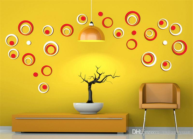 Indoor Room Decoration Circle Removable 3d Art Wall Sticker Round ...