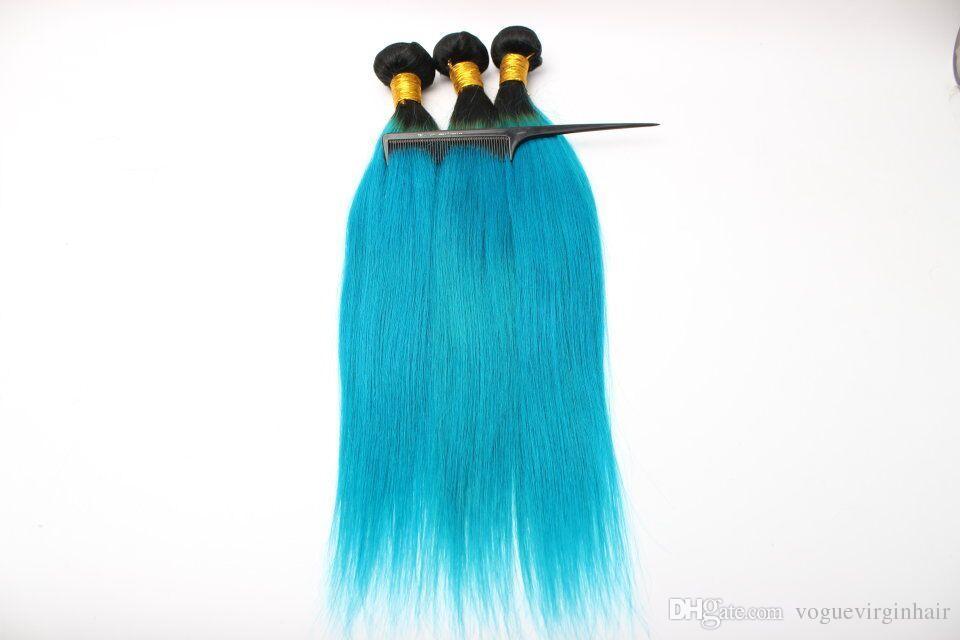 Best quality Brazilian Human Hair Weaves 1b blue Bundles 10-26 inch Unprocessed Brazillian Peruvian Indian Malaysian straight Hair Extension